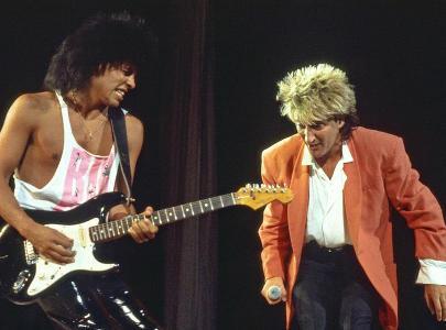 Stevie Salas and Rod Stewart