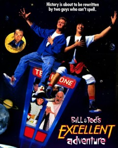 Poster for Bill and Ted's Excellent Adventure